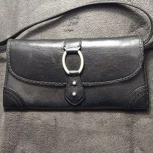 Sigrid Olsen Black Leather Wallet Crossbody Purse